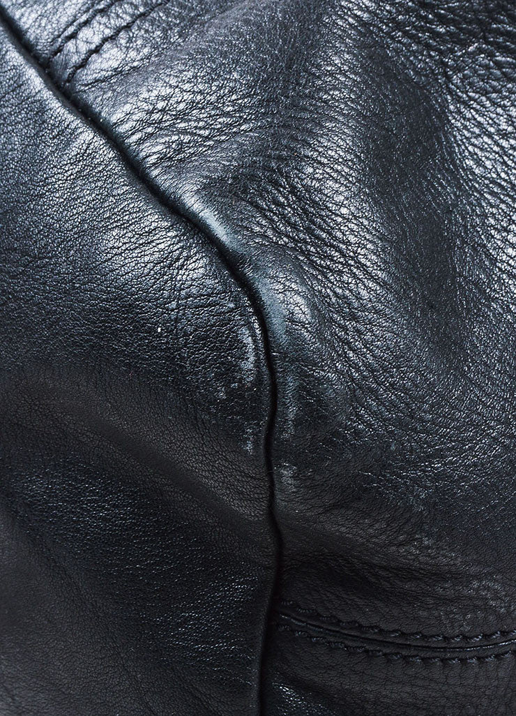 "Black Givenchy Grained Leather ""Pandora"" Messenger Bag Detail 2"