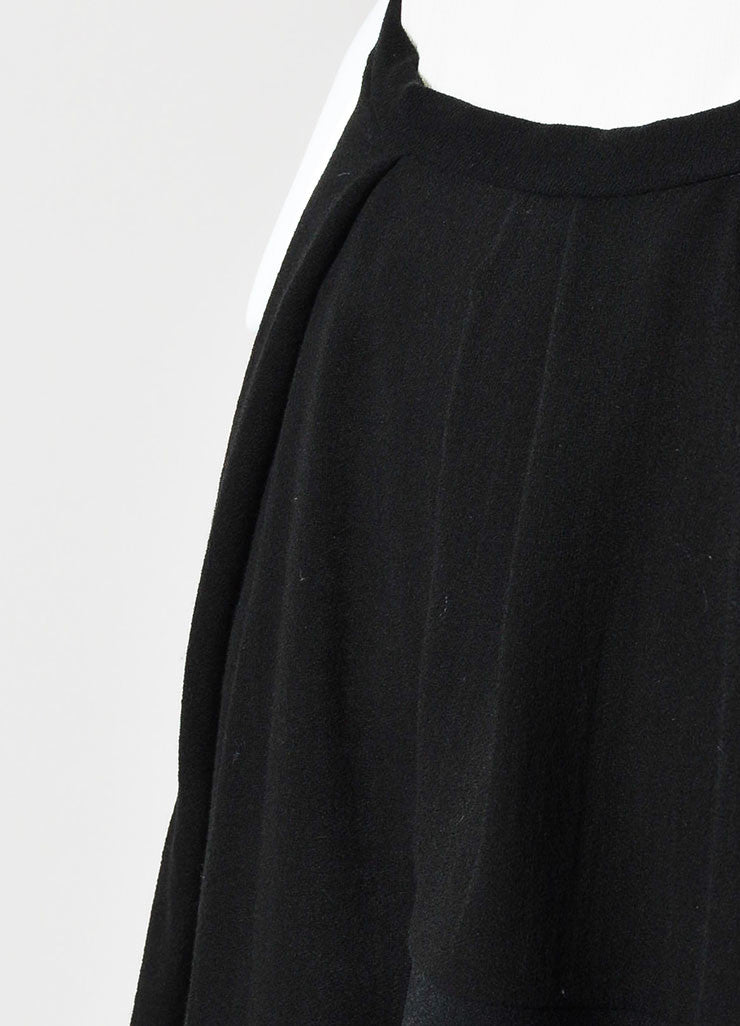 "Isabel Marant Black Pleated ""Rumer"" Asymmetrical Mini Skirt Detail"