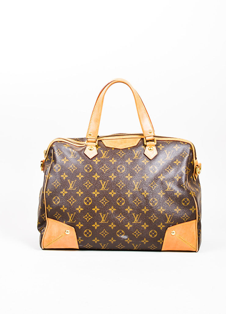 "Brown Louis Vuitton Monogram Canvas and Leather ""Retiro GM"" 2 Way Bag Frontview"
