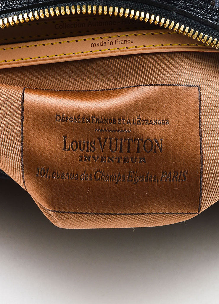 "Louis Vuitton Black Leather and Canvas Sequined ""Fleur De Jais Carrousel"" Bag Brand"