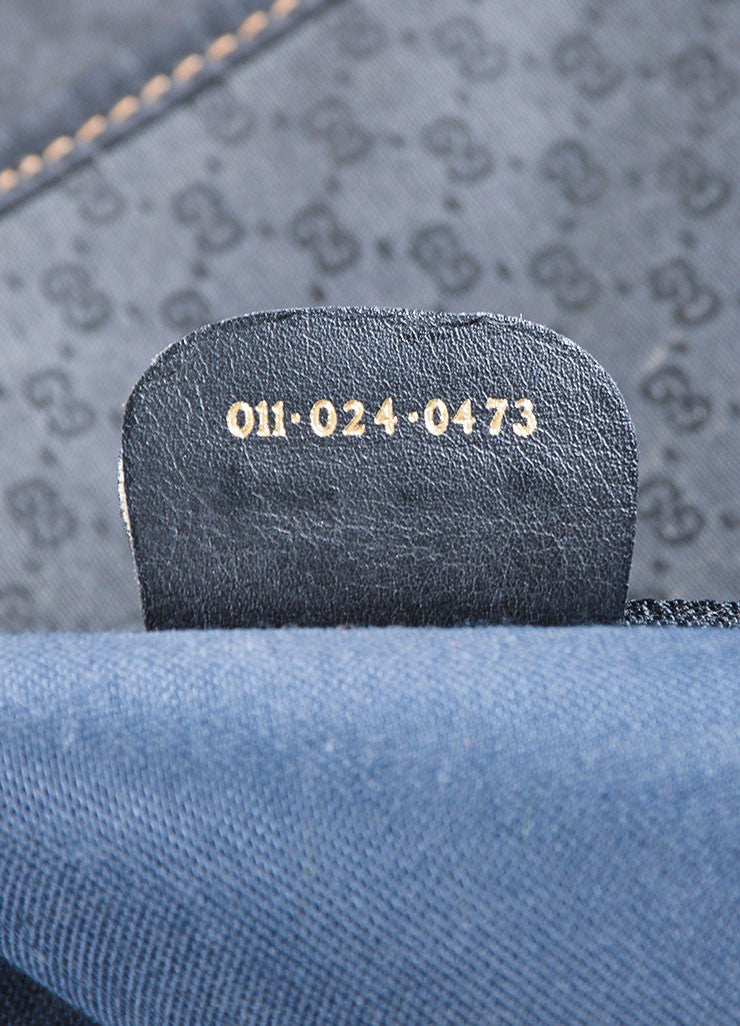 Black Gucci Monogram Coated Canvas Hanging Garment Bag Serial Stamp