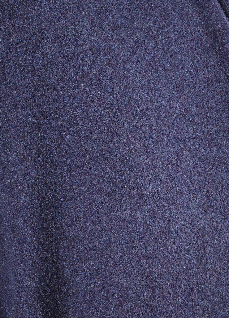 Purple Bottega Veneta Cashmere Collarless Belted Oversized Maxi Cardigan Detail