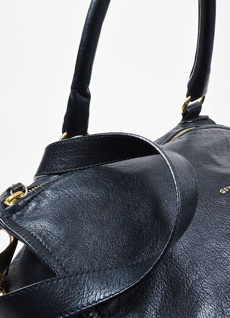 "Black Givenchy Grained Leather ""Pandora"" Messenger Bag Detail 3"