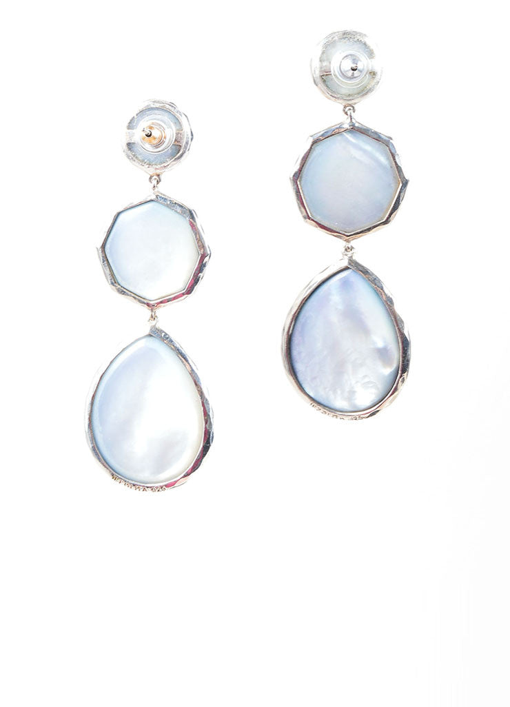 Ippolita Sterling Silver and Blue Stone Drop Earrings Back