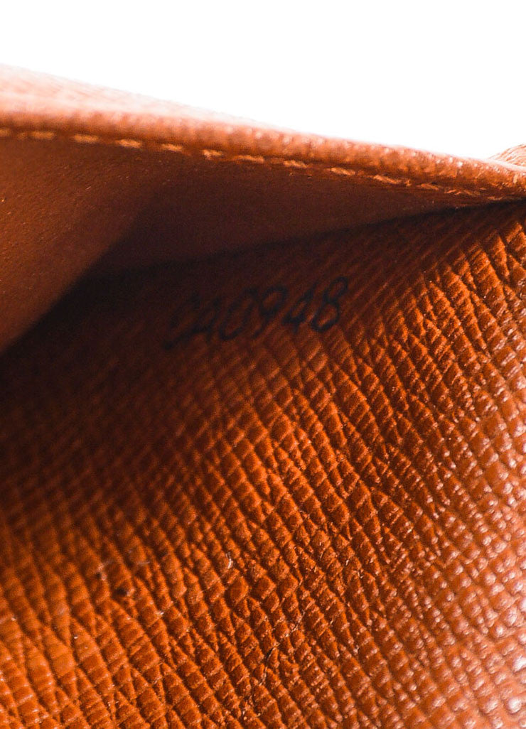 "Louis Vuitton Brown Tan Coated Canvas Monogram ""Compact Zip"" Wallet Brand 2"