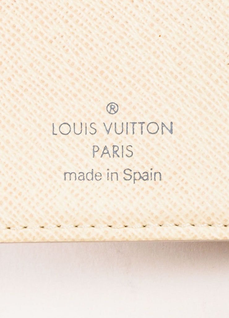 Louis Vuitton Damier Azur Canvas Small Notebook Cover Brand