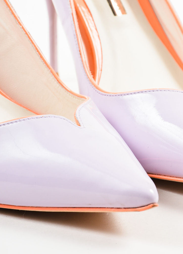 Lavender Sophia Webster Leather Izzy Pointed Toe Pumps Detail