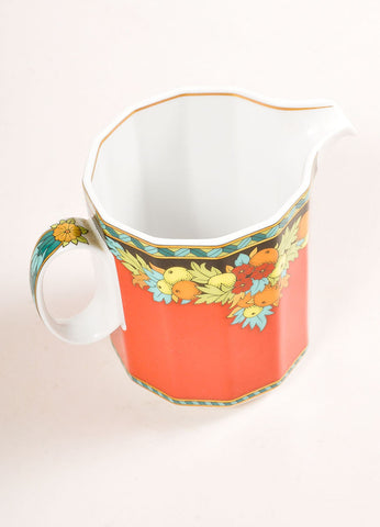 "Versace Rosenthal Red Fruit ""Le Roi Soleil"" Creamer Cup Sideview"