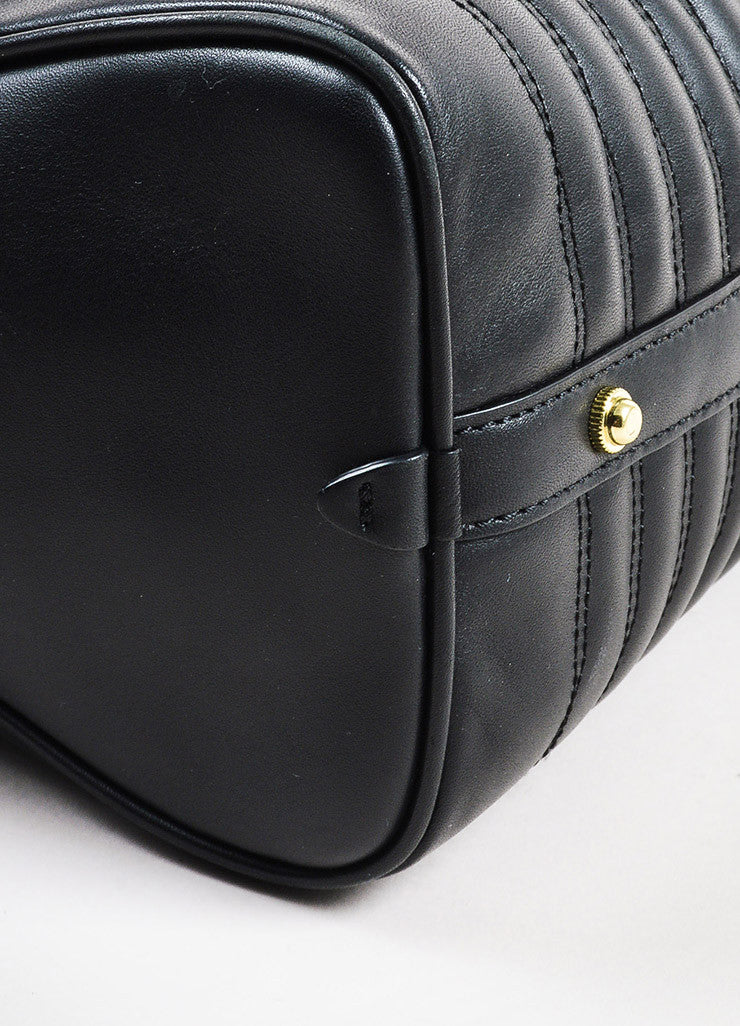 "3.1 Phillip Lim Black Leather Gold Toned Hardware ""Ryder"" Satchel Bag Detail"