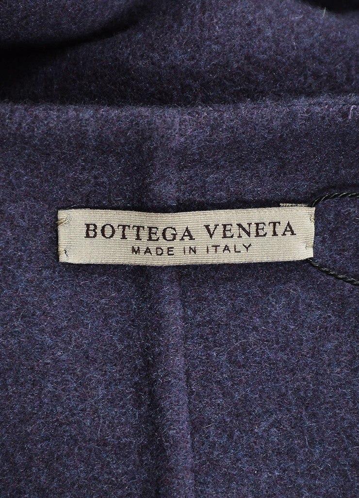 Purple Bottega Veneta Cashmere Collarless Belted Oversized Maxi Cardigan Brand