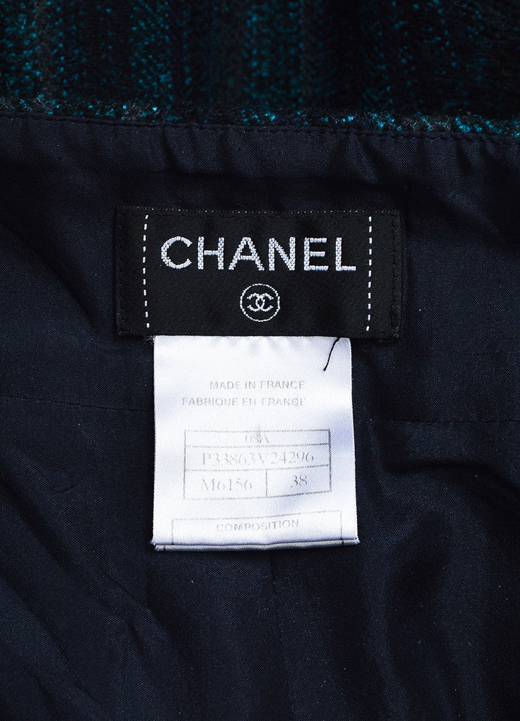 Chanel Navy Blue and Teal Wool Wide Leg Pants  Brand