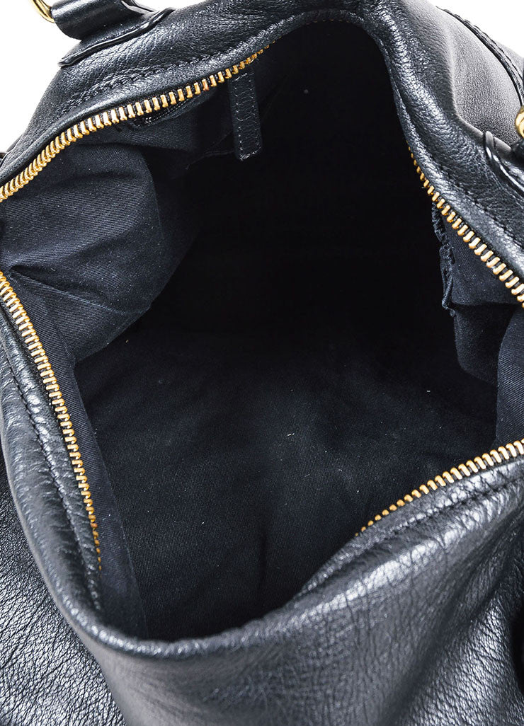 "Black Givenchy Grained Leather ""Pandora"" Messenger Bag Interior"