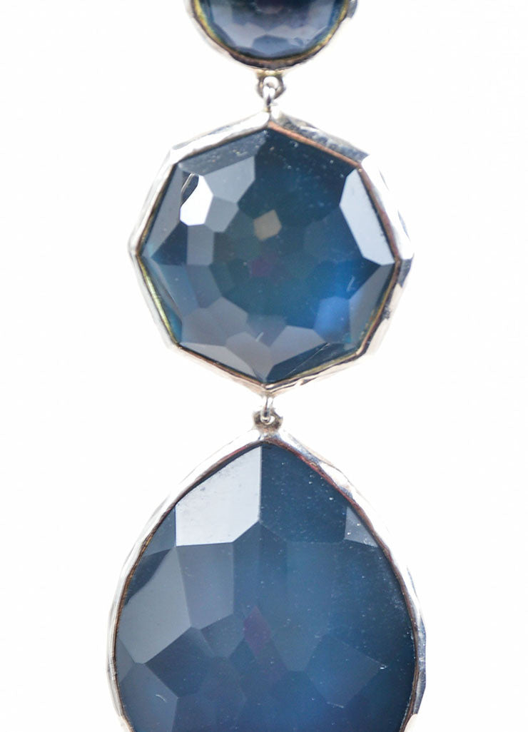 Ippolita Sterling Silver and Blue Stone Drop Earrings Detail