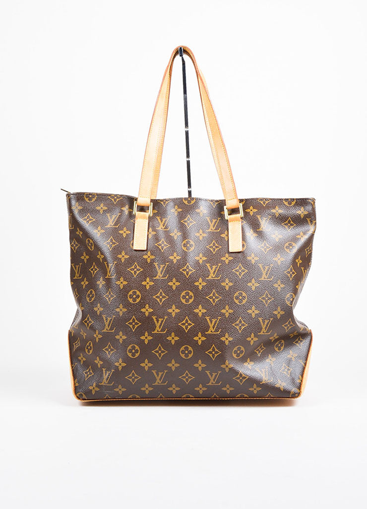 "Louis Vuitton Brown Monogram Canvas ""Cabas Mezzo"" Tote Bag Frontview"