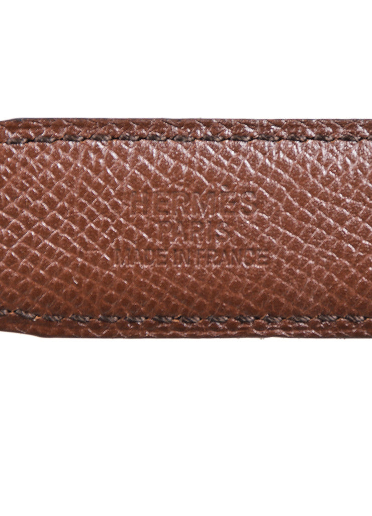 "Black and Brown Leather Reversible Hermes ""Constance"" Belt Brand"