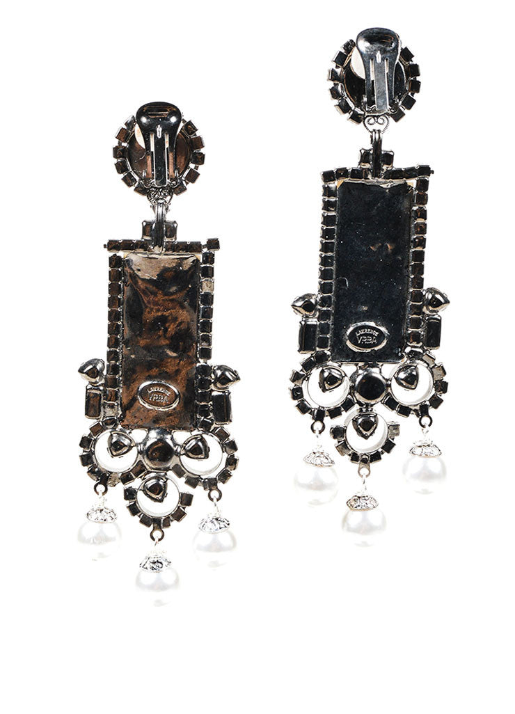 Mother of Pearl Lawrence VRBA Deco Clip On Earrings Back