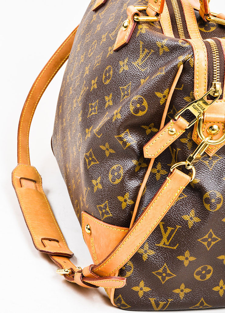 "Brown Louis Vuitton Monogram Canvas and Leather ""Retiro GM"" 2 Way Bag Detail 2"