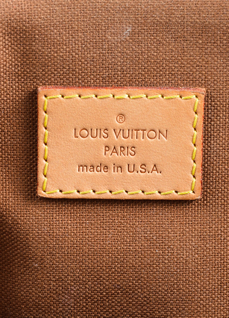 "Louis Vuitton Brown Monogram Canvas Leather Trim ""Tivoli GM"" Shoulder Bag Brand"