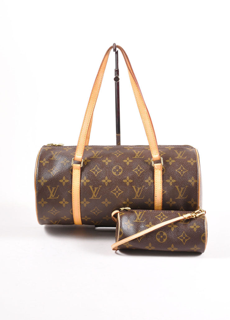 "Louis Vuitton Monogram Canvas ""Papillion 30"" Bag with Pochette Frontview"