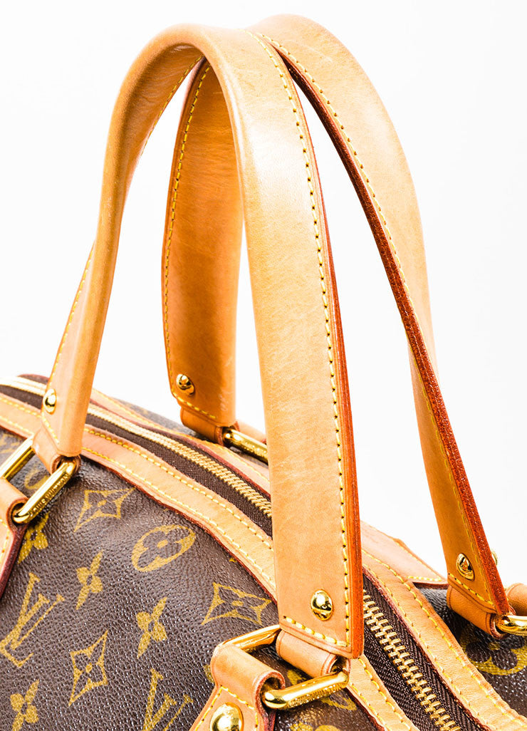 "Brown Louis Vuitton Monogram Canvas and Leather ""Retiro GM"" 2 Way Bag Detail 3"