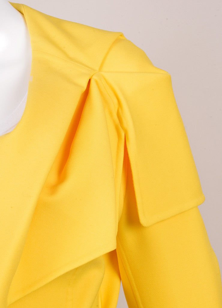 New With Tags Yellow Wool Belted Jacket