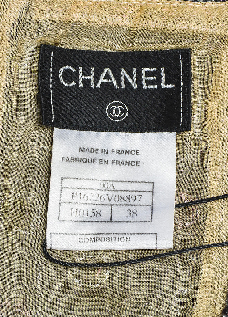 Gray Chanel Pink Sequin Eyelet Spaghetti Strap Top Brand