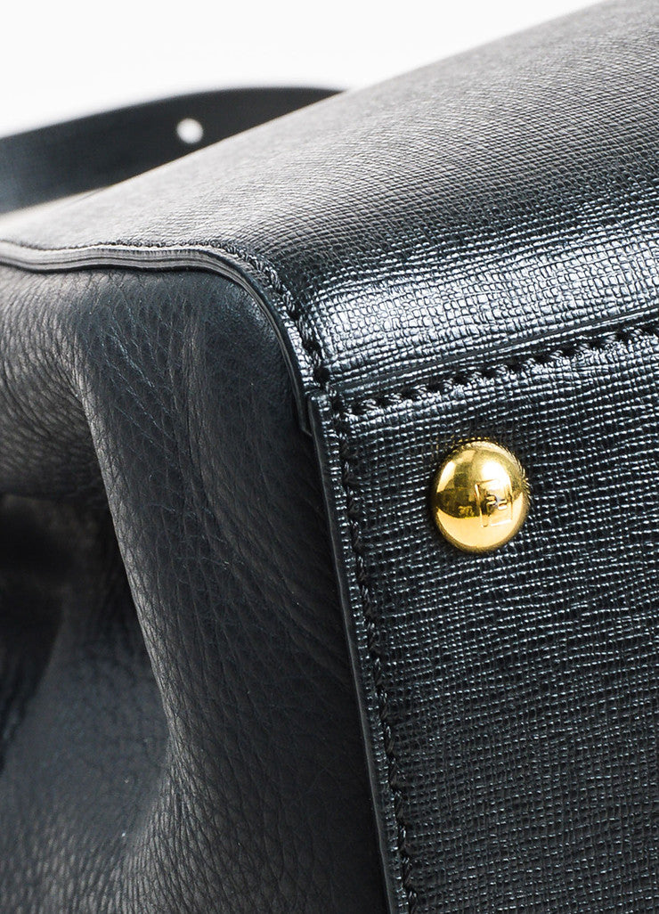 "Fendi Black Leather ""Petite 2Jours"" Multi Handle Bag Detail 2"