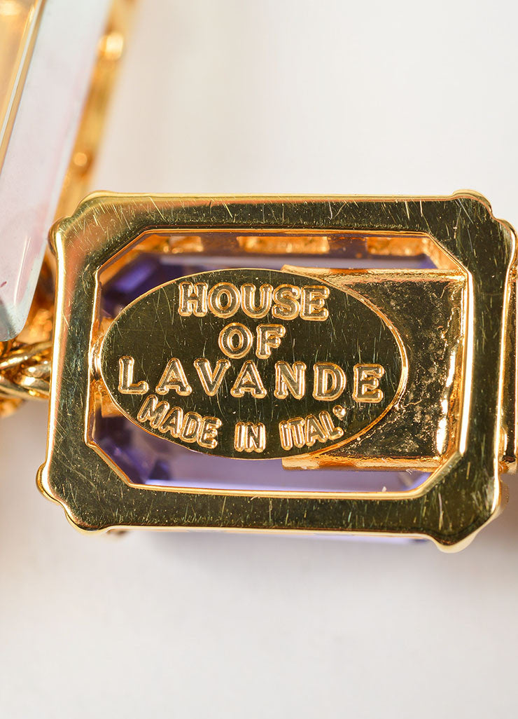 "Gold Toned, Purple, and Blue Swarovski Crystal House of Lavande ""Oceana"" Necklace Brand"