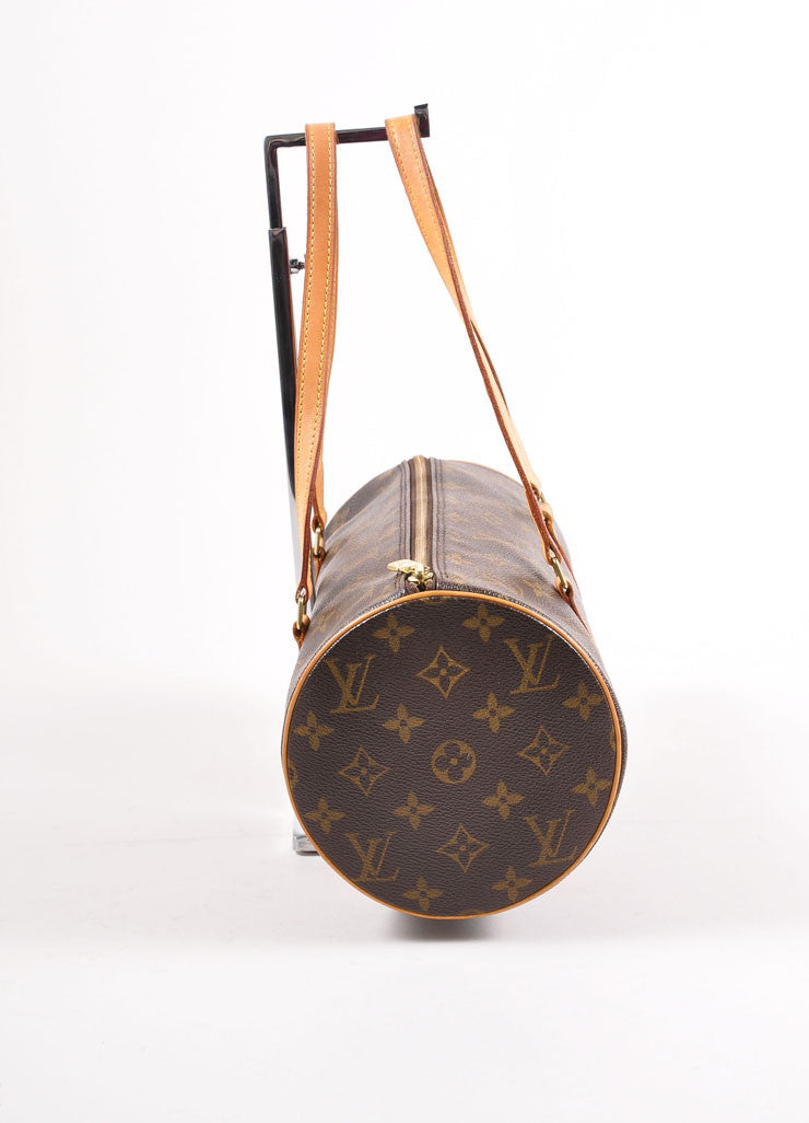 "Louis Vuitton Monogram Canvas ""Papillion 30"" Bag with Pochette Sideview"