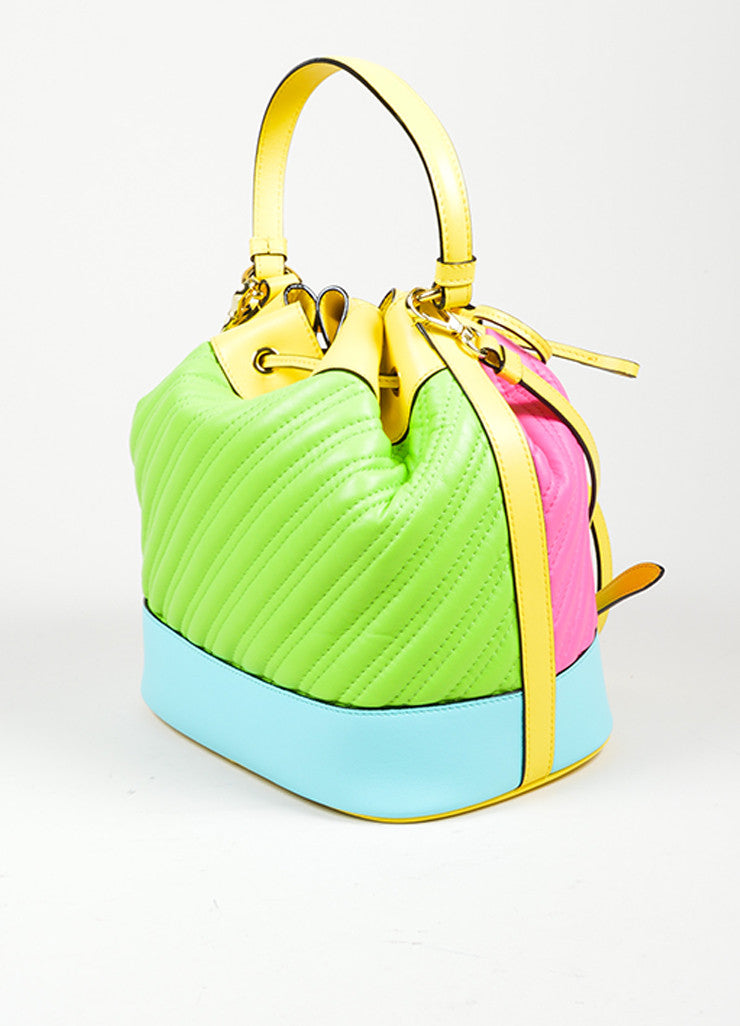 Multicolor Moschino Couture Cross Body Bucket Bag Sideview
