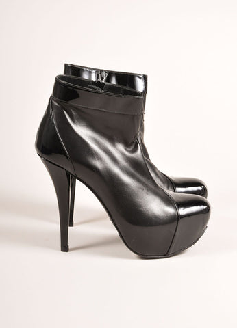 Stuart Weitzman New In Box Black Leather Platform Ankle Booties Sideview