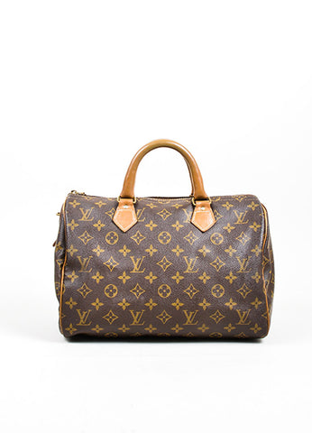 "Brown Louis Vuitton x French Company ""Speedy 30"" Bag Front"