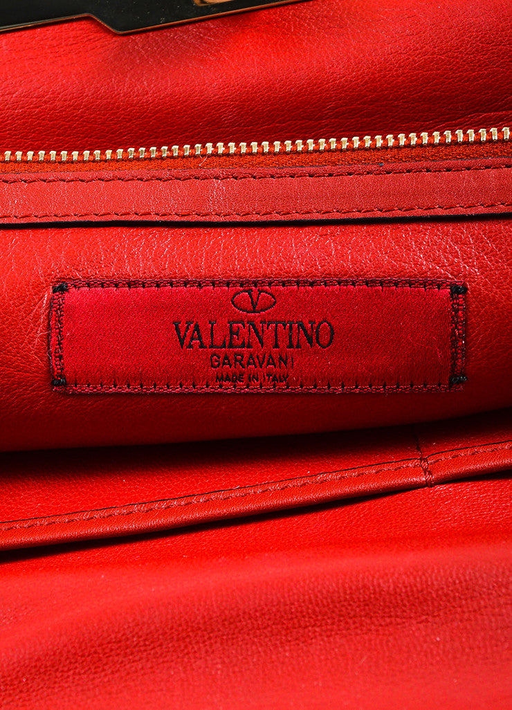"Valentino Red and Burgundy Leather ""Claret"" Colorblock Tote Bag Brand"
