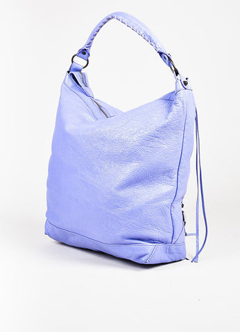 "Balenciaga Lavender Lambskin Leather Classic Hardware ""Day"" Bag Back"