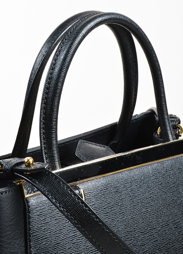 "Fendi Black Leather ""Petite 2Jours"" Multi Handle Bag Detail 3"