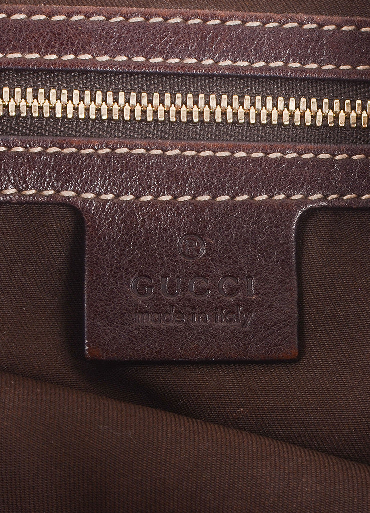 "Gucci Tan Canvas Studded ""GG"" Monogram ""Pelham"" Medium Messenger Bag Brand"