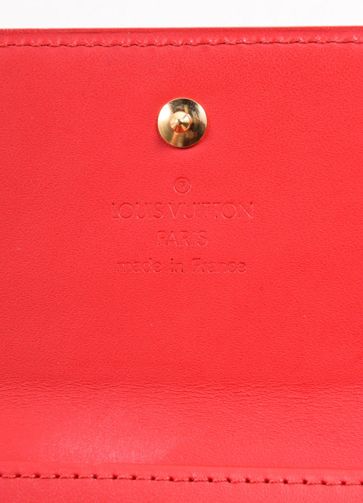 "Louis Vuitton Red Monogram Vernis ""Elise"" Fold Wallet Brand"