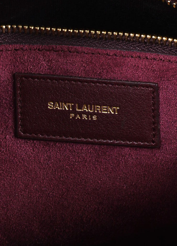 "Burgundy Saint Laurent Leather ""Small Sac De Jour"" Tote Bag Brand"