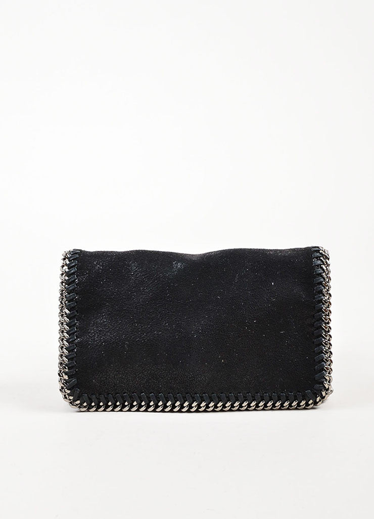 "Stella McCartney Black Faux Suede ""Falabella Shaggy Deer"" Crossbody Bag Frontview"