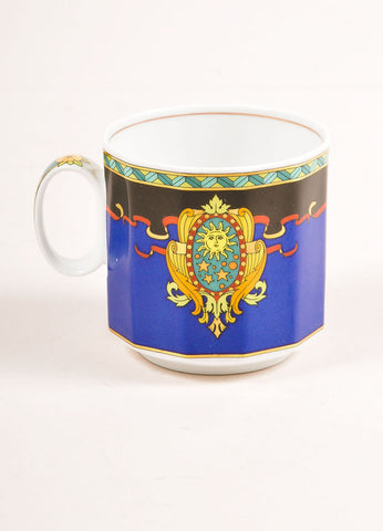 "Versace Rosenthal Multicolor ""Le Roi Soleil"" Small Coffee Cup Frontview"