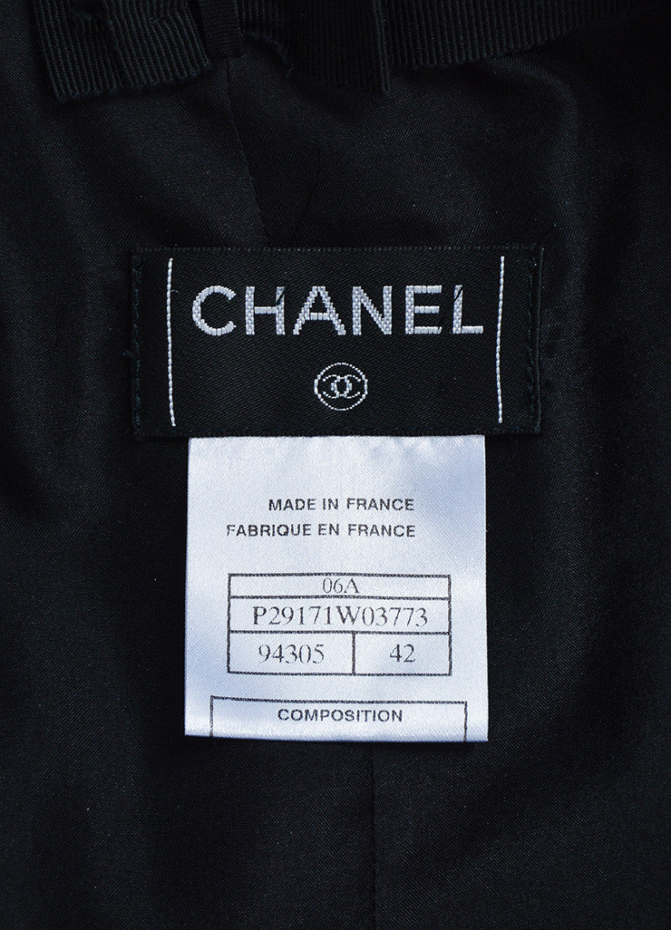Black Chanel Wool and Silk Jacket and Skirt Suit Brand
