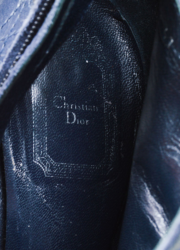 Blue Christian Dior Suede and Snakeskin Embossed Leather Stiletto Moto Boots Brand