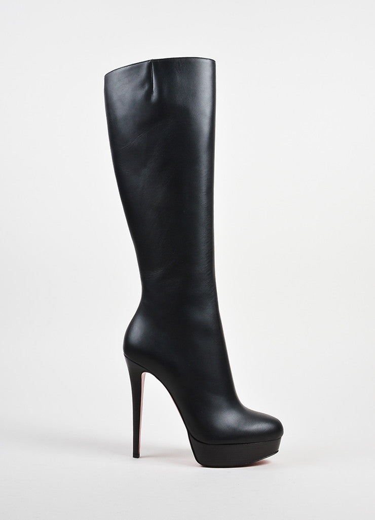 Black Christian Louboutin Leather Bianca Botta 140 Boot Side