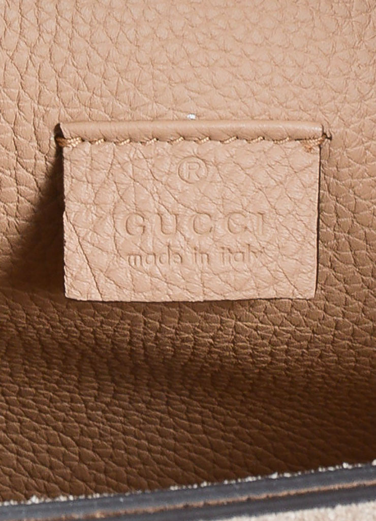 "Gucci Tan Pebble Leather ""Jackie Soft"" Silver Toned Closure Shoulder Bag Brand"