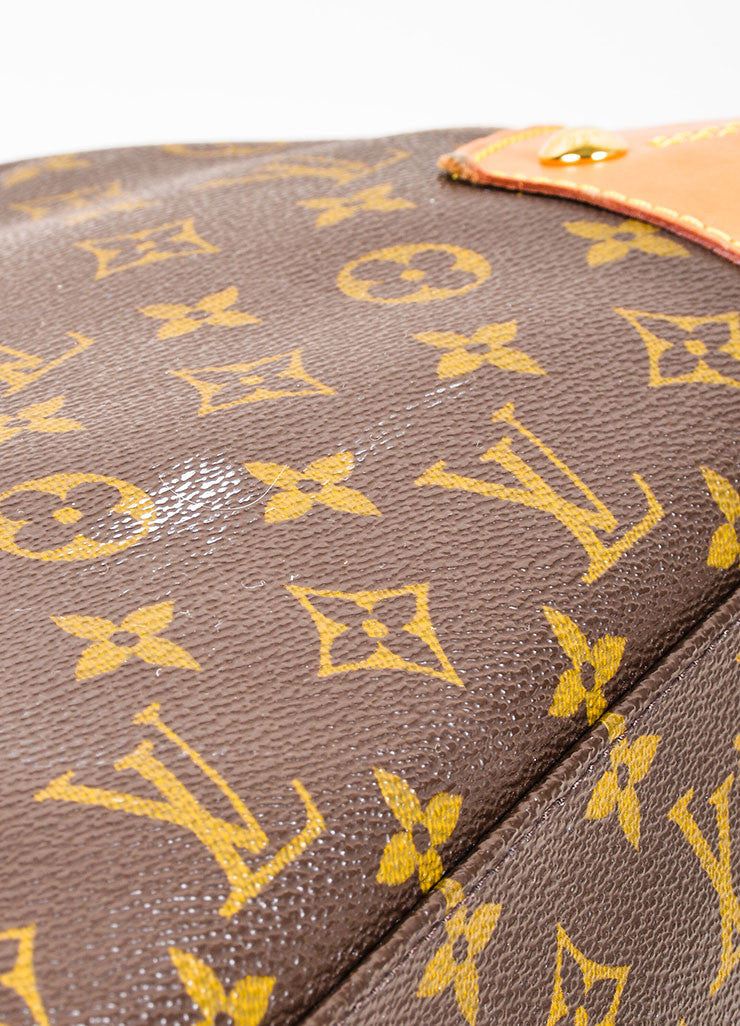 "Brown Louis Vuitton Monogram Canvas and Leather ""Retiro GM"" 2 Way Bag Detail 4"