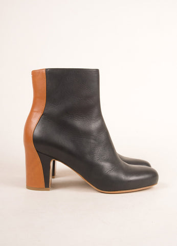 Maison Martin Margiela Black and Brown Leather Ankle Boots Sideview