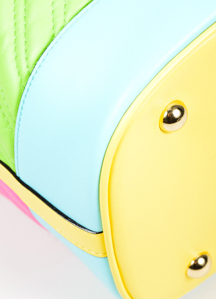 Multicolor Moschino Couture Cross Body Bucket Bag Detail