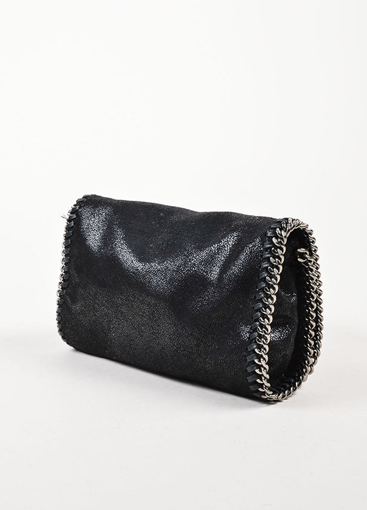 "Stella McCartney Black Faux Suede ""Falabella Shaggy Deer"" Crossbody Bag Sideview"