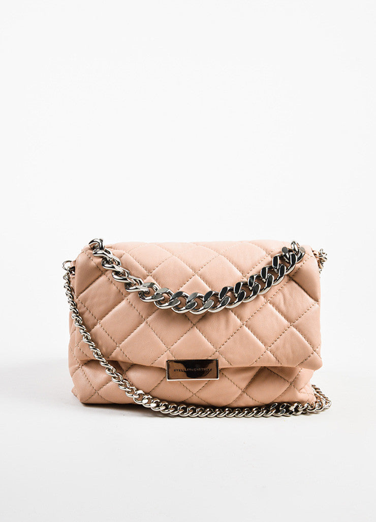 "Stella McCartney ""Beckett"" Pink Vegan Leather Shoulder Bag- front"