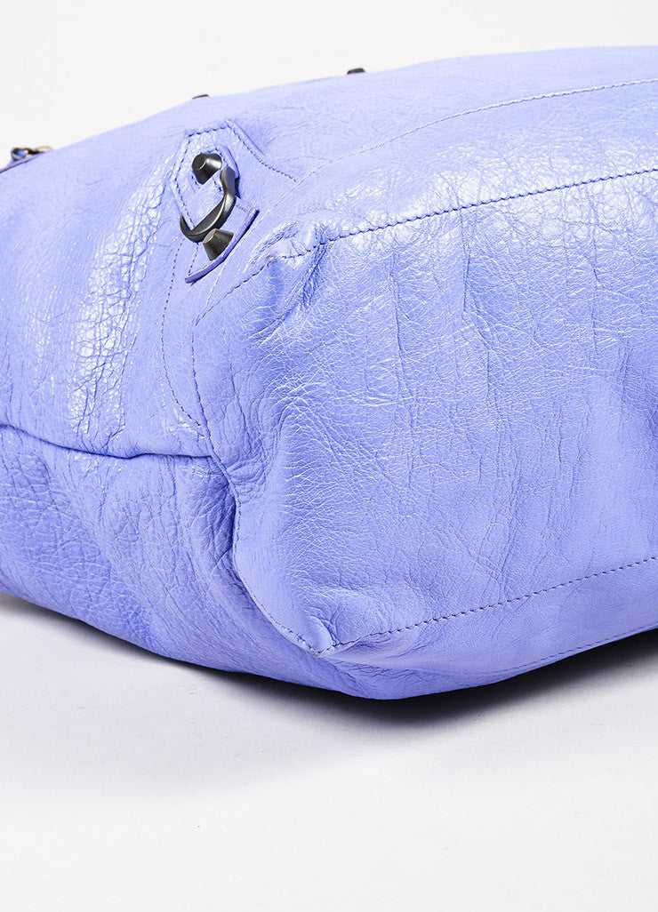 "Balenciaga Lavender Lambskin Leather Classic Hardware ""Day"" Bag Detail 2"
